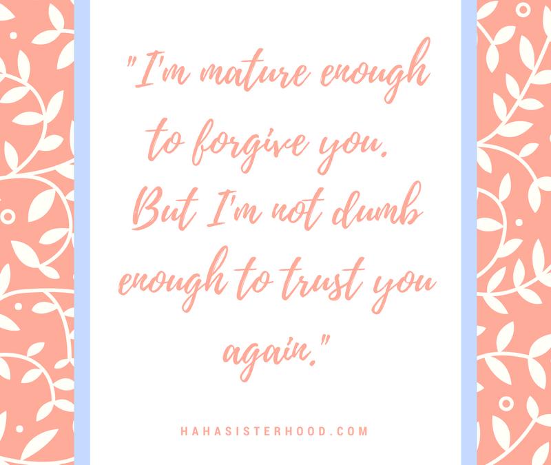 Forgive…